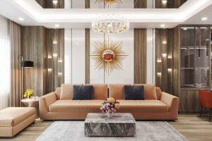Không gian trong nội thất phòng khách