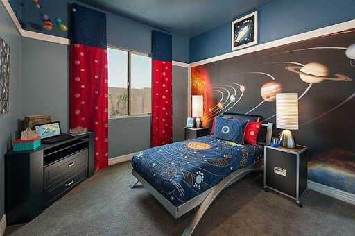 Phòng ngủ bé trai với cá tính mạnh mẽ